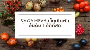 sagame66 เว็บเดิมพันอันดับ 1 ที่ดีที่สุด